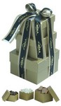 Picture of 3 PC Gift Tower - Milk, Dark & White Chocolate