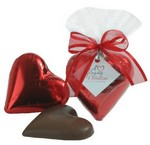 Picture of 2 OZ Solid Milk Chocolate Heart- Foil Wrapped