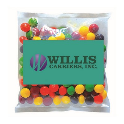Business Card Magnet with Small Bag of Skittles