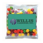 Picture of Business Card Magnet with Small Bag of Skittles
