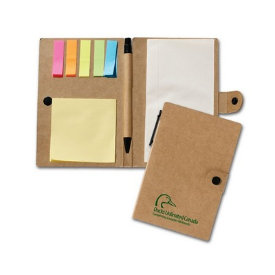 Recycled Jotter With Post a Note and Flag Set
