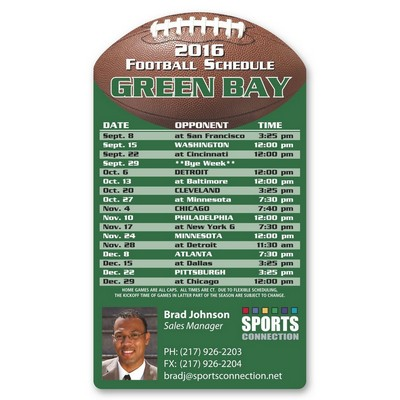 Football Schedule Sports Magnet (0.030)