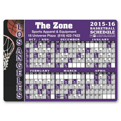 Basketball Schedule Sports Magnet