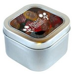 Picture of Gummy Bears in Large Square Window Tin