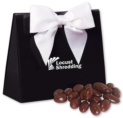 Black & White Triangular Gift Box with Chocolate Almonds