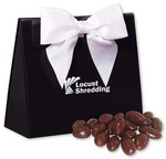 Picture of Black & White Triangular Gift Box with Chocolate Almonds