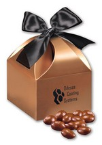 Picture of Chocolate Covered Almonds in Copper Gift Box
