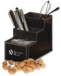 Picture of Faux Leather Desk Organizer with Extra Fancy Jumbo Cashews