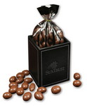 Picture of Faux Leather Pen & Pencil Cup with Chocolate Covered Almonds