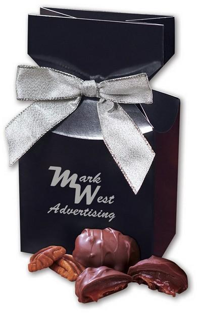 Pecan Turtles in Navy Gift Box