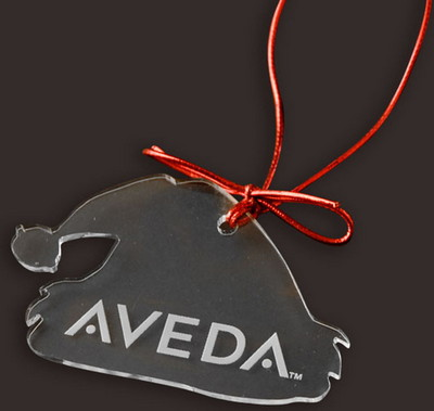 """9"""" Etched Acrylic Ornament - 1/4"""" thick"""