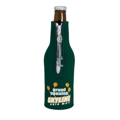 Neoprene Bottle Suit with Imprinted Bottle Opener