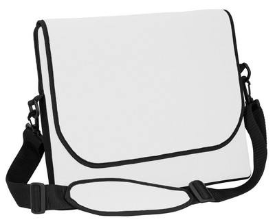 "15"" Neoprene Messenger Bag with strap"