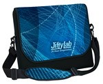 "Picture of 17"" Neoprene Messenger Bag with strap - Four Color Process"