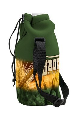 Neoprene Growler Cover with Drawstring - Four Color Process