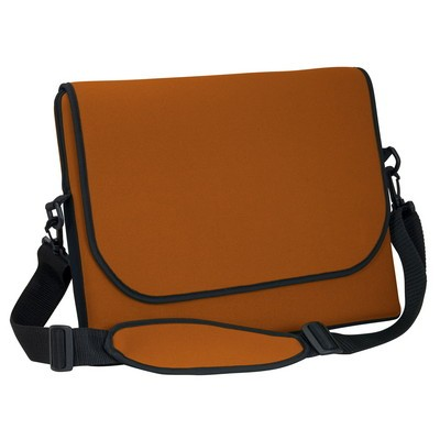 "14"" Neoprene Messenger Bag with strap"