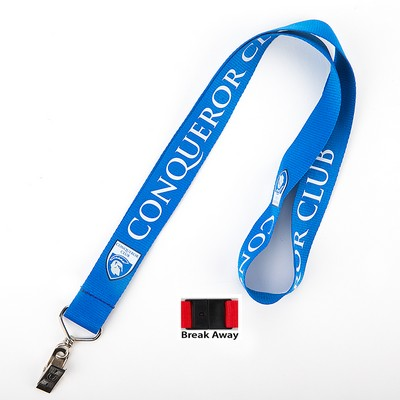 Polyester Lanyard with Bullnose Clip & Break Away