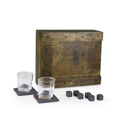 Customised Whiskey Box - Oak Gift Set