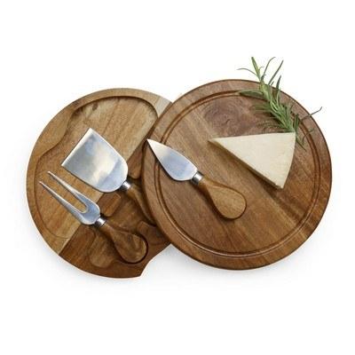 Personalised Acacia Cheese Board Set