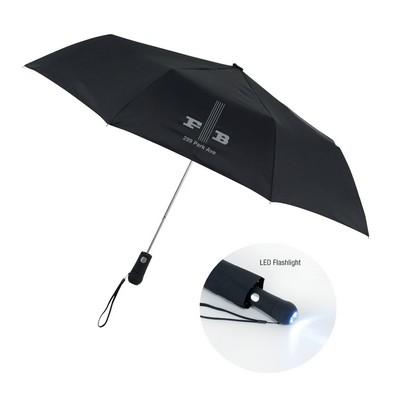 "The Illuminator 44"" Umbrella with LED Flashlight"