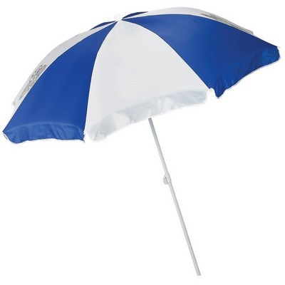 72″ Beach Umbrella with 2 Piece Pole - One Color Imprint