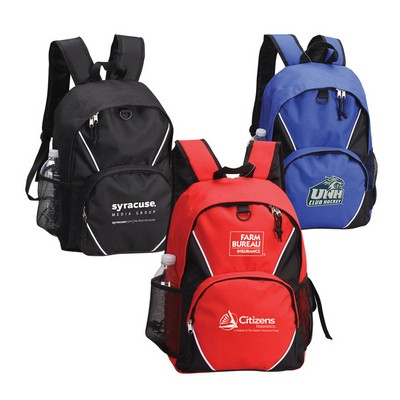 Multi - Colored Backpack with Adjustable Shoulder Straps