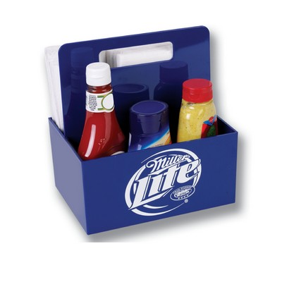 Plastic Condiment Caddy with Handle