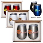 Picture of 10 oz. Stemless Vacuum Wine Tumbler Set