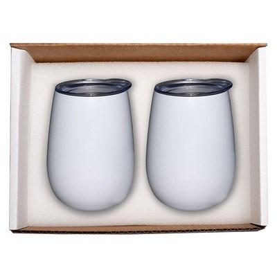 10 oz. Stemless Vacuum Wine Tumbler Set