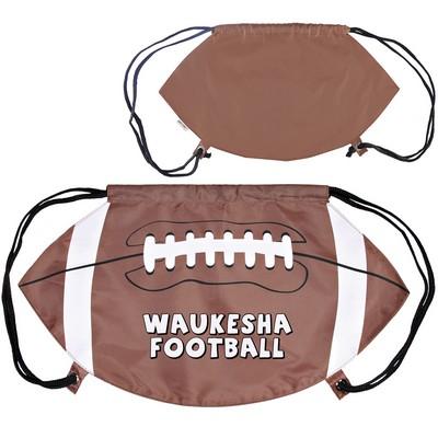 GameTime Football Drawstring Backpack