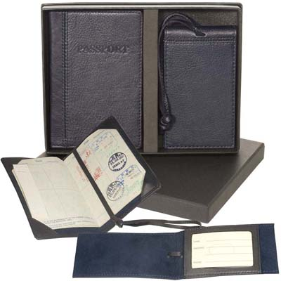 Lloyd Harbor Passport Jacket & Magnetic Luggage Tag Set