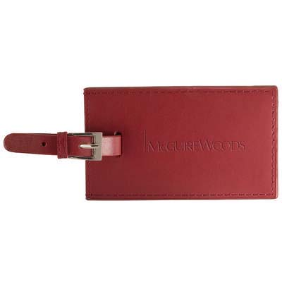 Whitney Rectangular Leather Luggage Tag