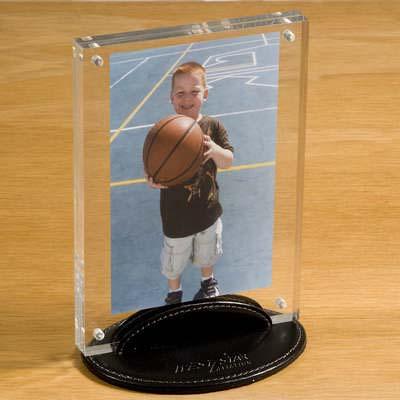 Taconic Acrylic Photo Frame with Leather Stand