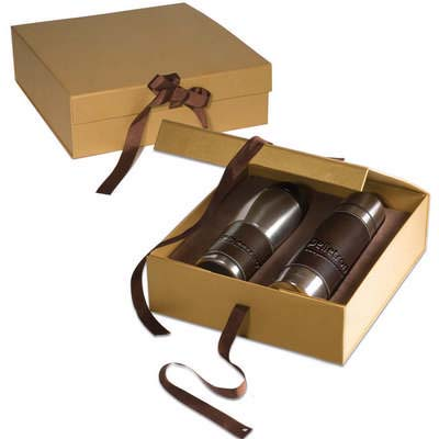 Empire Leather-Wrapped Thermos and Tumbler Set