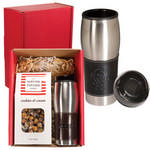 Picture of Leather Wrapped Tumbler & Gourmet Popcorn Set
