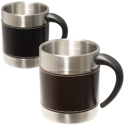 Empire Leather-Stainless Coffee Cup
