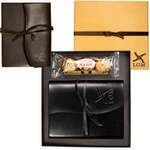 Picture of Ferrero Rocher Chocolates & Wrapped Leather Journal Gift Set