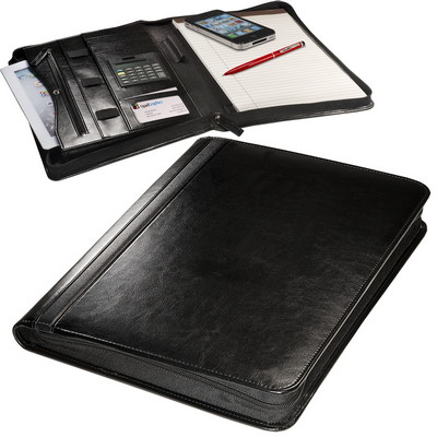 Alpha Zip-Around Portfolio with Tablet Case and Calculator