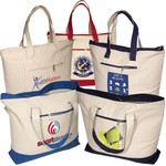 Picture of Zippered Cotton Boat Tote