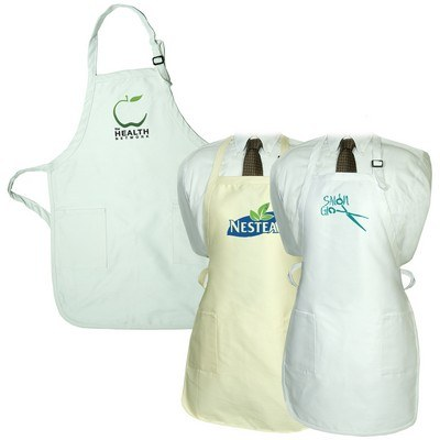 Natural White Gourmet Apron with Pockets