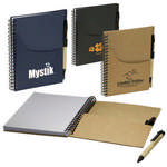 Picture of Eco Handy Jotter With Pockets And Pen Combo