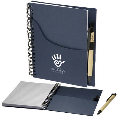 Eco Handy Jotter With Pockets And Pen Combo