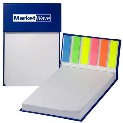 Hard Cover Jotter Pad with Sticky Flags