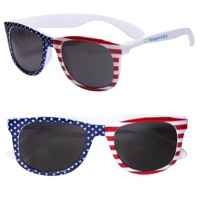 Patriotic Sunglasses with Stars and Stripes