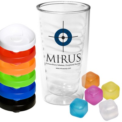 Avalon Clear Tumbler and Ice Cubes Set