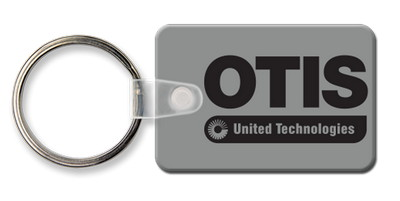 Rounded Corner Small Rectangle Key Tag