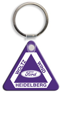 Round Corner Triangle Key Tag