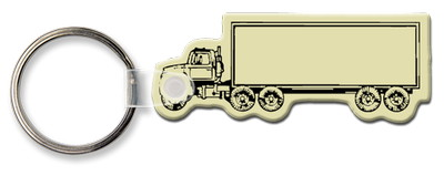 Semi Truck Shaped Key Tag