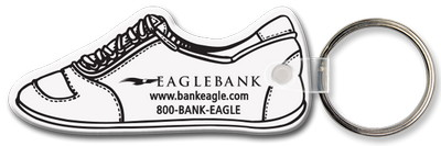 Running Shoe Shaped Key Tag