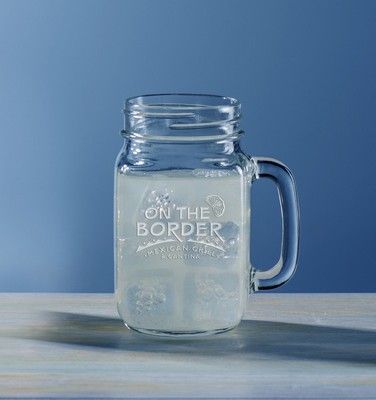 Customizable Etched 16oz Handled Mason Jar